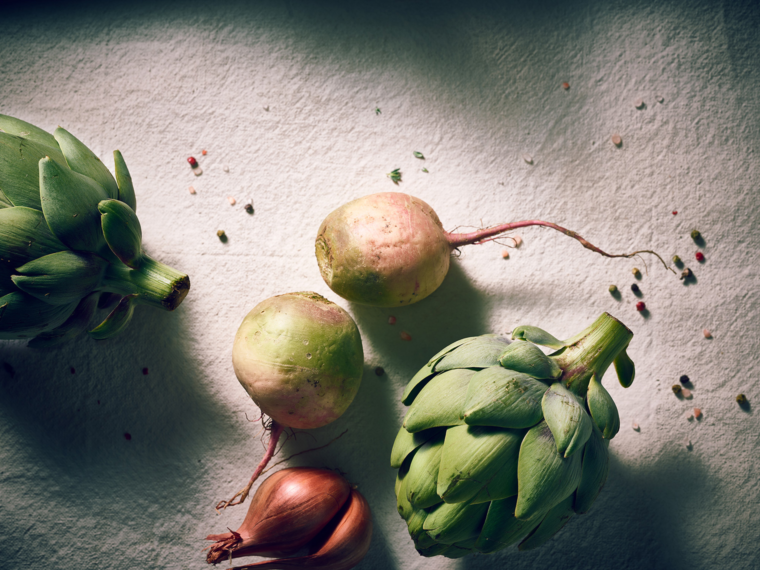 Artichokes and Radishes -Food Photography- © Aristo Studios