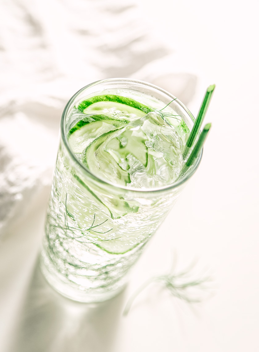 Cucumber Drink Napkin-Beverage Food Photography- © Aristo Studios