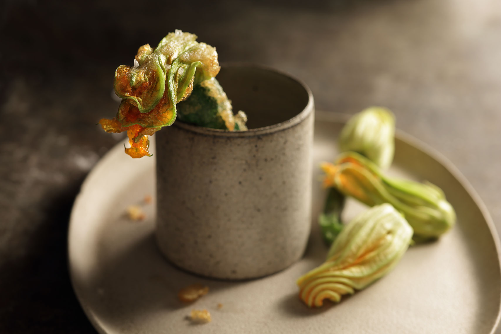 Squash Blossom In Cup  - Beverage Food  Photography- © Aristo Studios