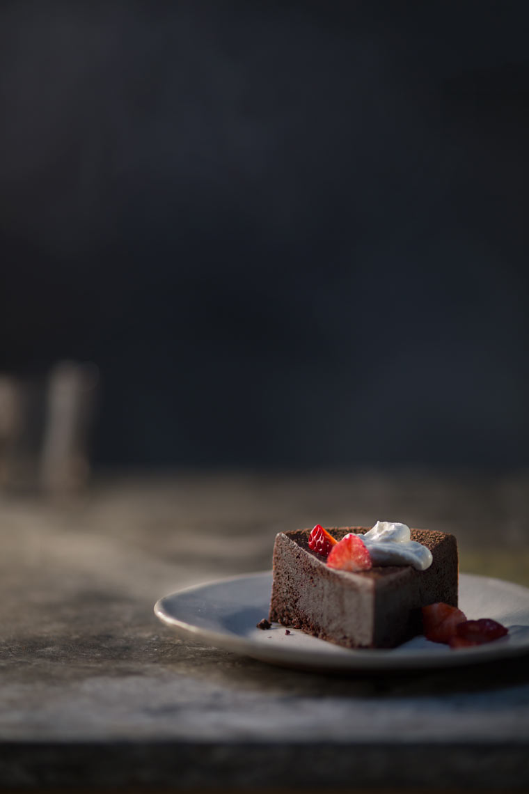 Chocolate Cake Slice Strawberry Topping Food Beverage Photography- © Aristo Studios