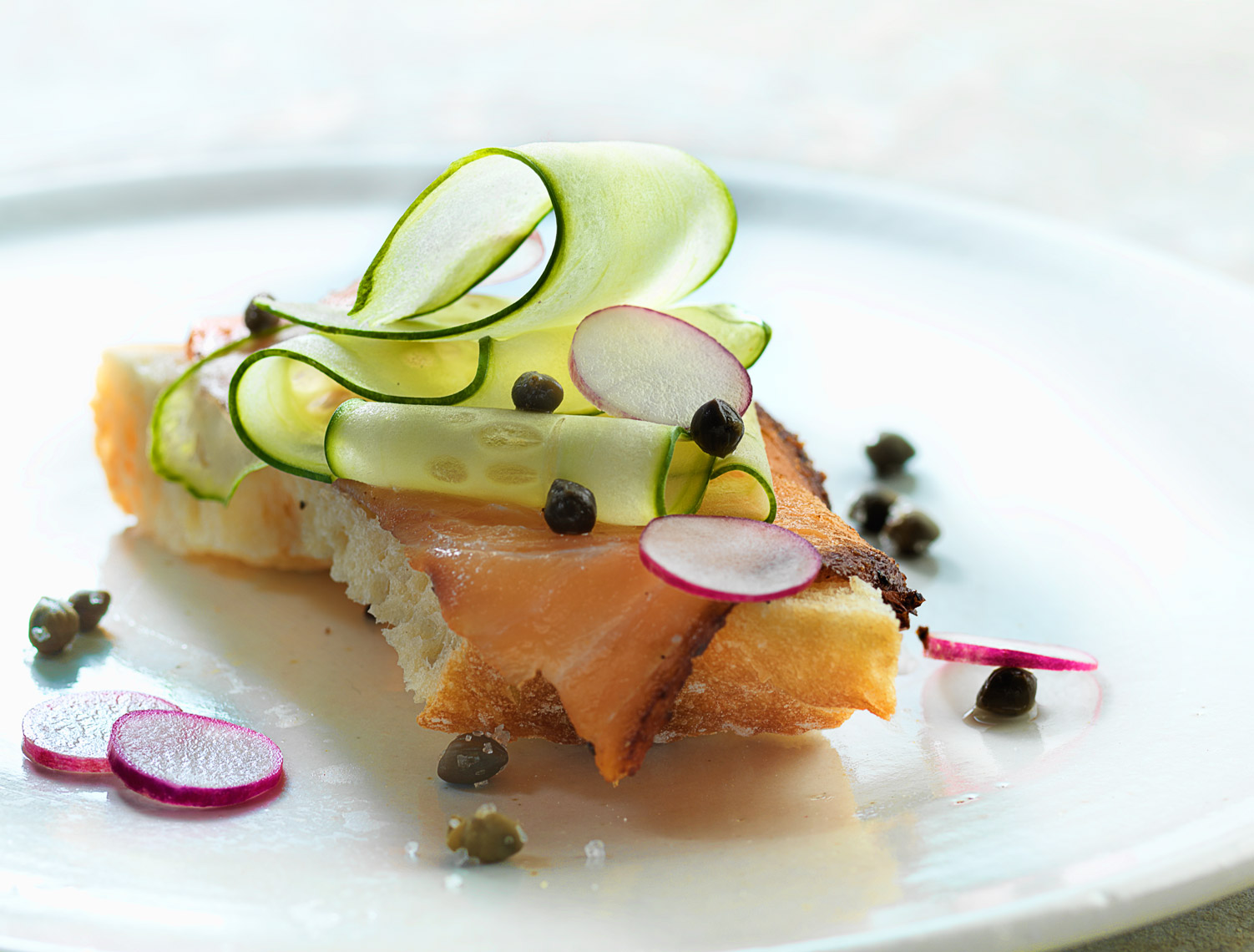 Salmon On Plate Food Photography- © Aristo Studios