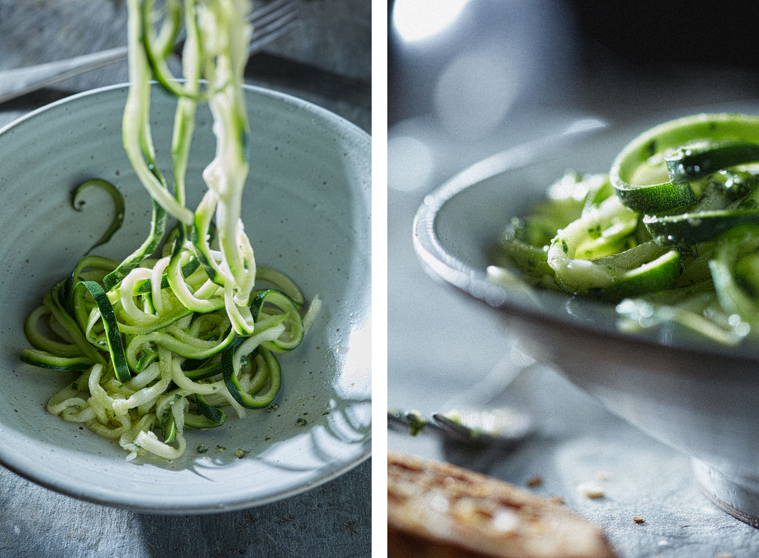 Zucchini Spirals Food Photography- © Aristo Studios