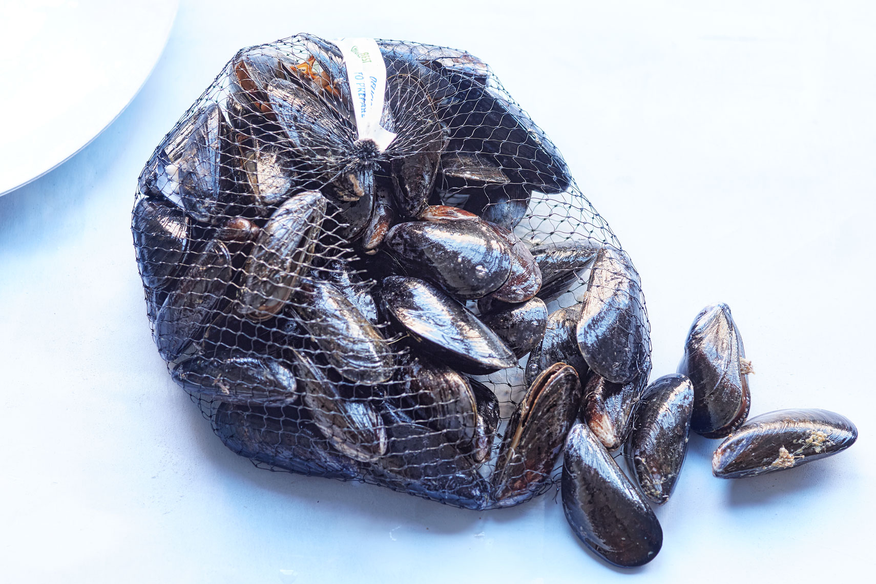 Mussels in Net -Food Photography- © Aristo Studios