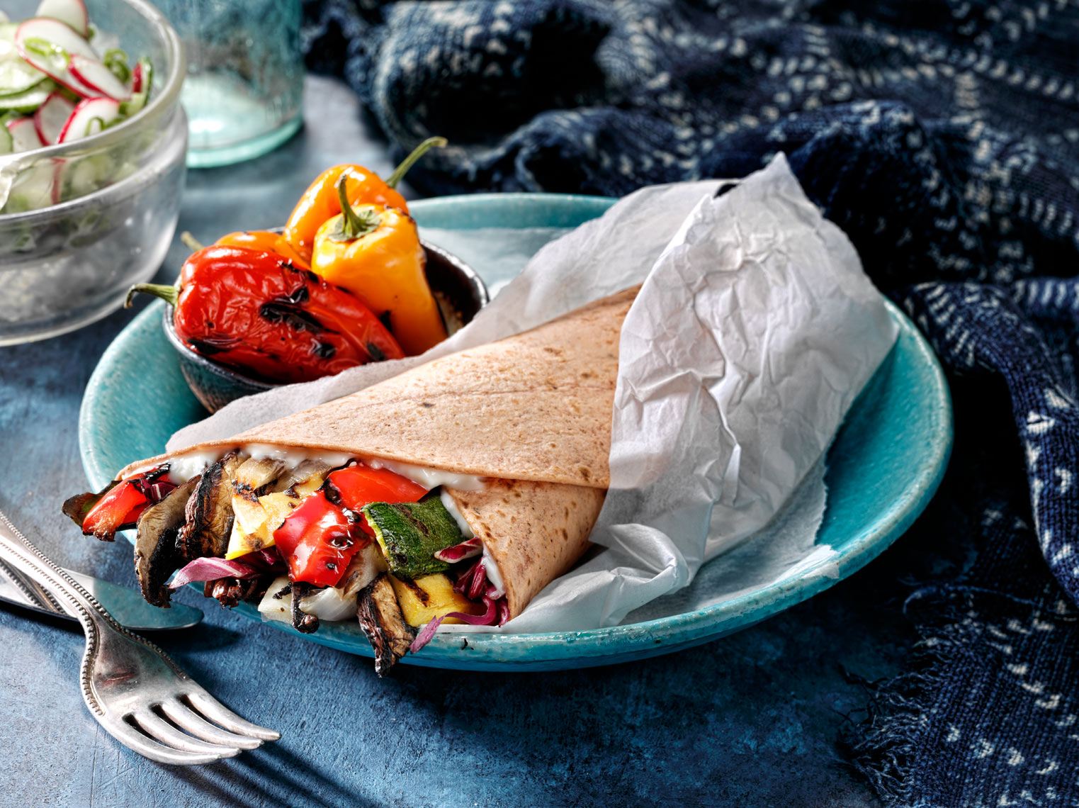 Grilled Veggie WrapFood Photography- © Aristo Studios