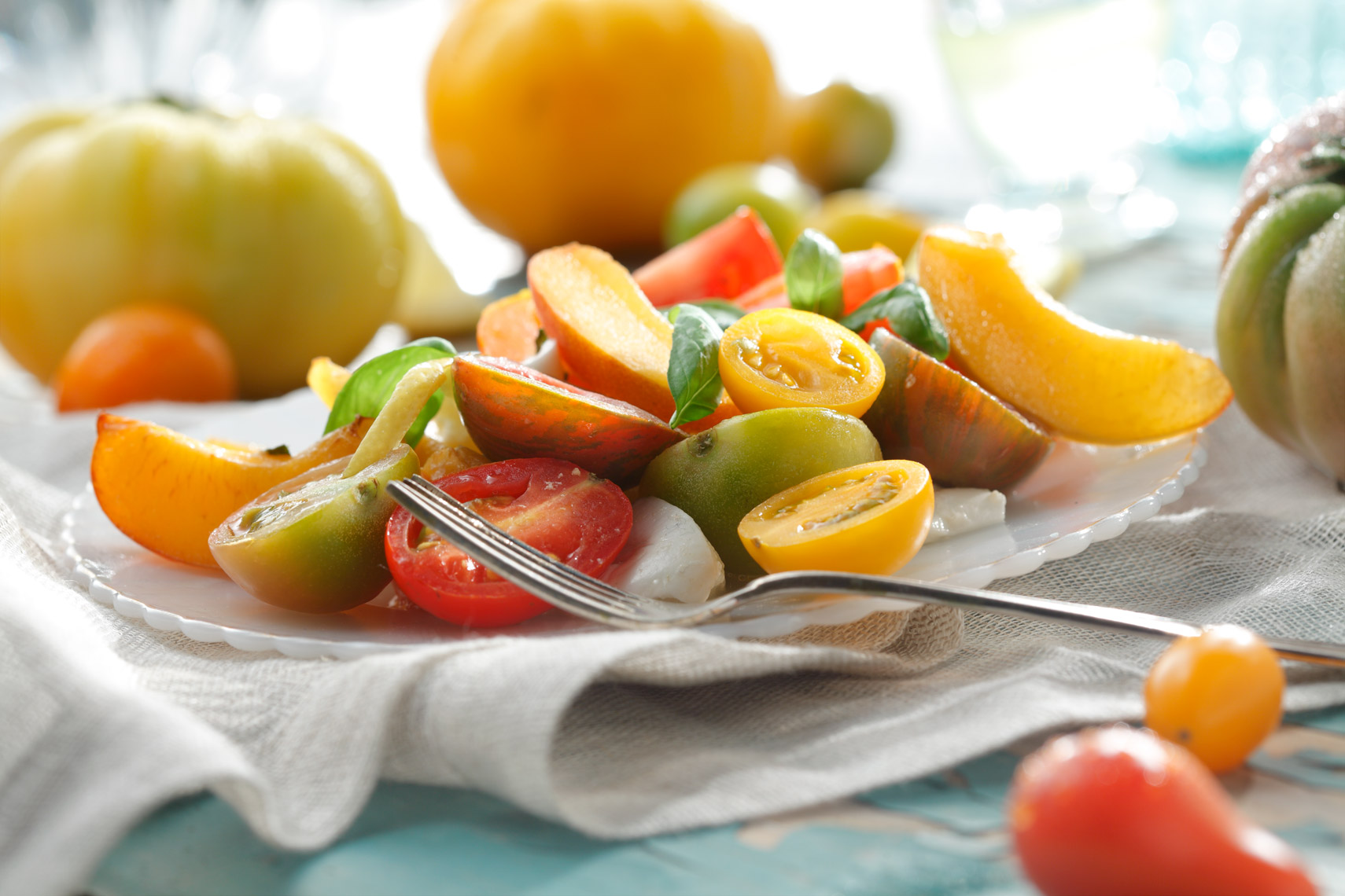 Peach Tomato Salad Food Photography- © Aristo Studios