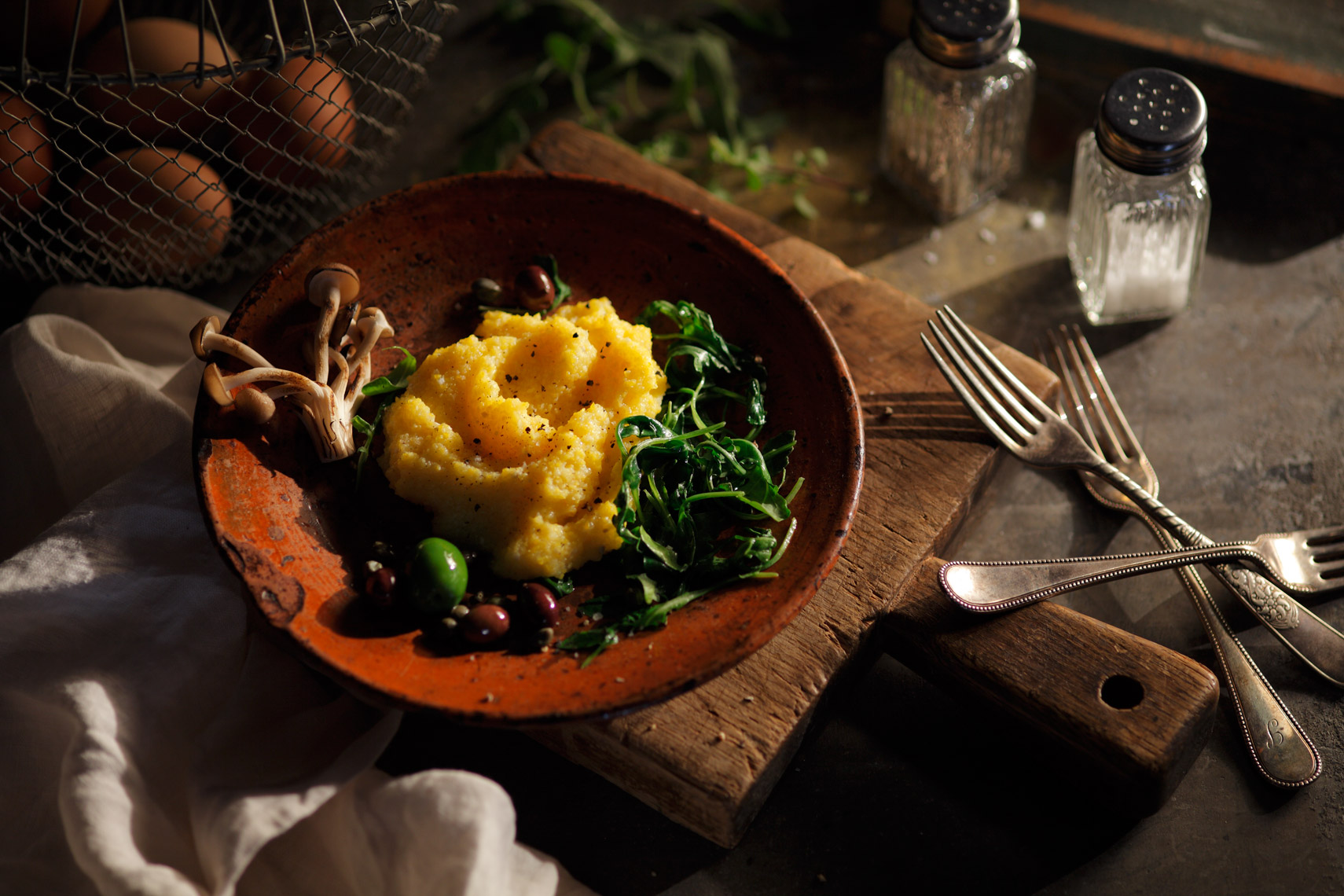 Polenta Food Photography- © Aristo Studios