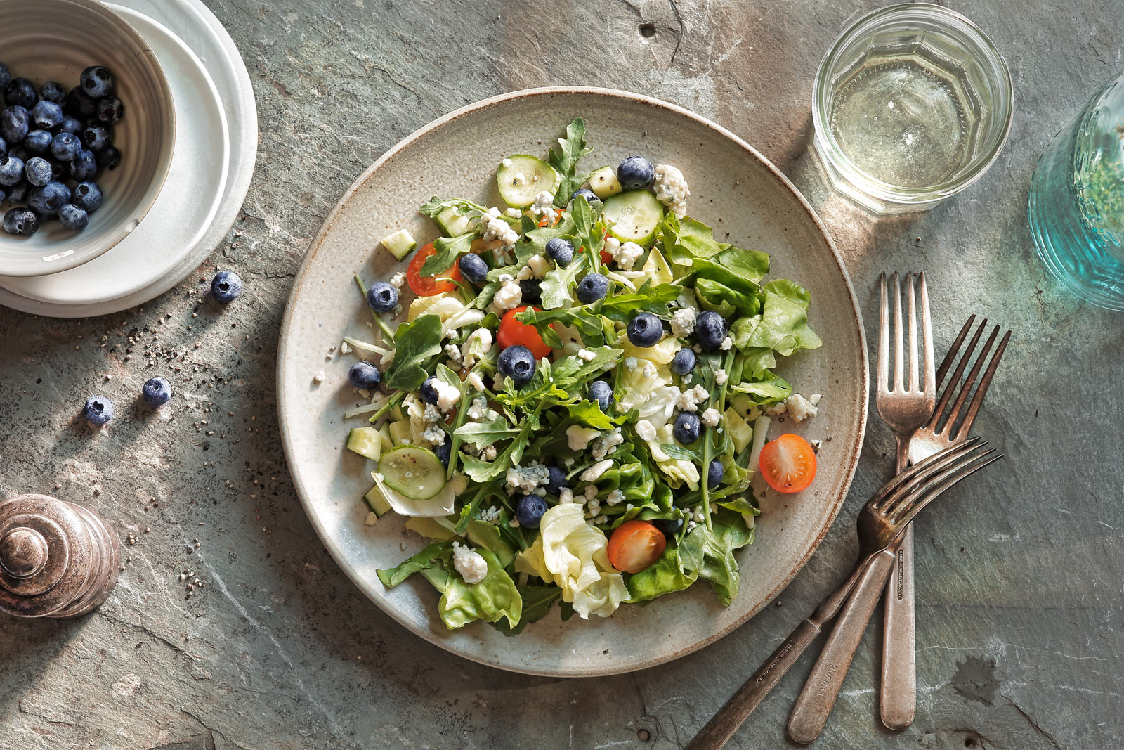 Blueberry Salad Food Photography- © Aristo Studios