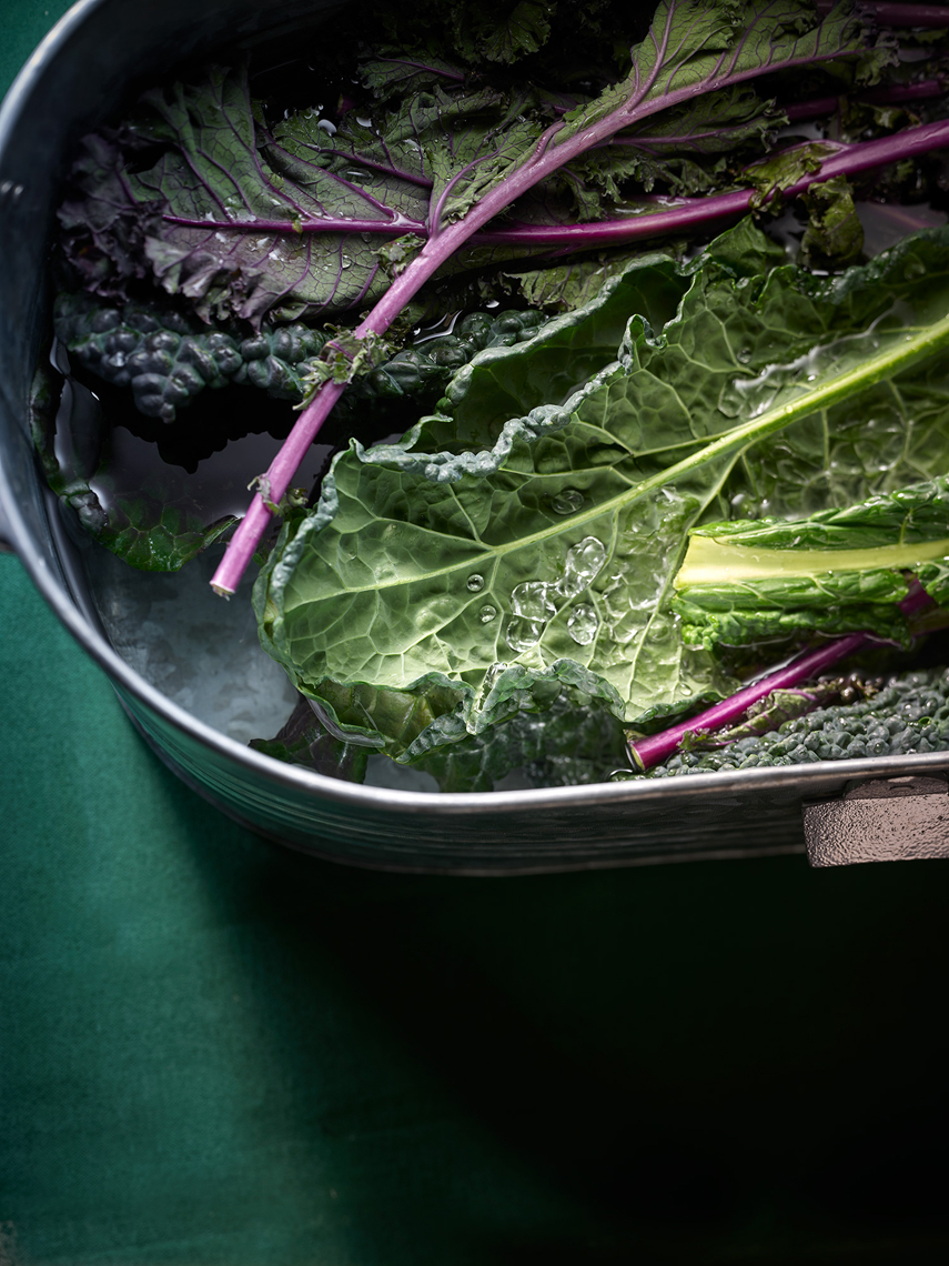 Kale in Bucket -Food Photography- © Aristo Studios