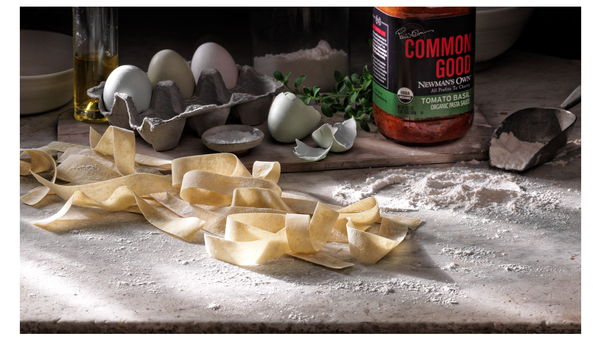 Hand Made Pasta on Marble Food Photography- © Aristo Studios
